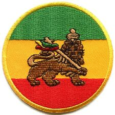 Lion of Judah flag rasta reggae ganja embroidered applique iron-on patch G-48