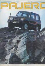 1982 Mitsubishi Pajero 2300 Diesel Turbo Jeep SUV Truck Brochure Japanese wv9135