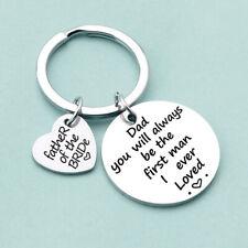 Unisex Keyring Metal Round Heart Tag Car Keychain Key Ring Keyfob Ornaments Gift