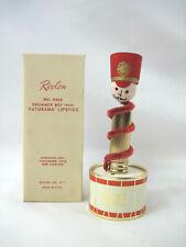 1950s Vintage Revlon Futurama Lipstick Little Drummer Boy Full Unused No9909 Box