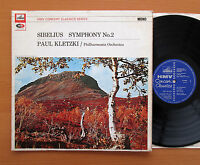 XLP 30061 Sibelius Symphony no. 2 Paul Kletzki HMV Concert Classics NM/VG