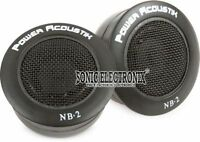 "NEW POWER ACOUSTIK NB-2 1"" 200W RMS FLUSH-MOUNT CAR POWER AUDIO DOME TWEETERS"