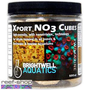 Brightwell Aquatics Xport NO3 Cubes 500mL Nitrate Remover Aquarium Filter Media