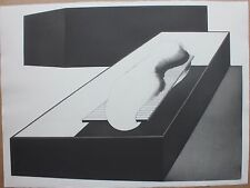 Gravure de Christian FOSSIER signée numérotée sommeil 1972 surrealism