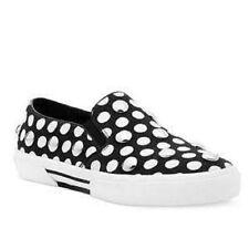 Michael Kors Boerum Dot Studded Slip On 7.5 M Black White Canvas Sneaker New Box