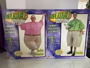 Gemmy His Hers Couples Adults Halloween Inflatable Costumes Tacky Tourists
