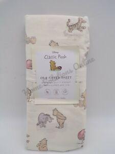 Pottery Barn Kids Organic Winnie the Pooh Crib Fitted Sheet Nursery Bed #9846R