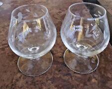 Princess House Heritage Brandy Snifters Stems Set of 2 Cut Glass