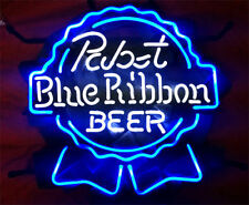 "New Pabst Blue Ribbon Beer Lager Neon Light Sign 17""x14"""