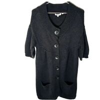 VINCE Wool Brown Button Down Women's Duster Cardigan Sweater, Size Large