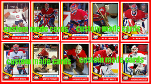 MONTREAL CANADIENS Retro 1970s Syle Custom Made GOALIE Cards 30 Diff YOU PICK