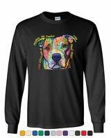 Dean Russo Dogs Have a Way Long Sleeve T-Shirt Pet Animal Lover Cute Pitbull Tee