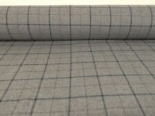 Skye Grey Blue Wool Type Pin Check 140cm wide Upholstery/Curtain/Craft Fabric