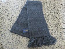 Polo RALPH LAUREN Gray Fair Isle Merino Wool Scarf