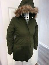 Girls Parka Coat khaki With Fur Hood Age 10-11 Years School Coat warm winter