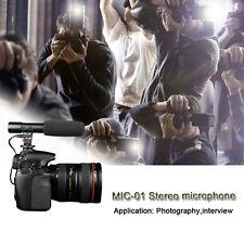 MIC-01 Pro Stereo Recording Microphone Camcorder Mic For Camera Studio DV Video