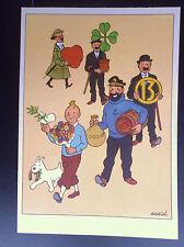 Ancienne carte postale Casterman Tintin PROCHE DU NEUF