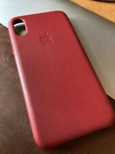 Apple Leather Case for iPhone XS - (PRODUCT)RED