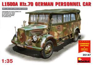 Miniart 35147 -1/35 Car L1500A (KFZ.70) German Personnel Car WWII BLACK FRIDAY