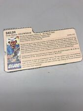 GI JOE 1985 Shipwreck Action File Card Beautiful A