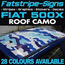 FIAT 500X del tetto Camo grafica Adesivi Strisce Decalcomanie Mimetica ABARTH 1.2 1.4