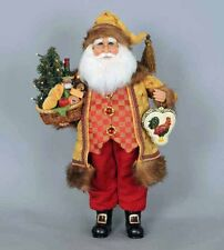 """CHRISTMAS DECORATIONS - """"COUNTRY CUCINA"""" SANTA FIGURINE WITH LIGHTED TREE"""