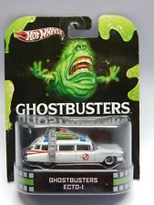 Hot Wheels Retro Entertainment Ghostbusters Cadillac Ecto-1 Slimer Card MIP VHTF