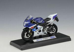 Welly 1:18 SUZUKI GSX-R750 Motorcycle Bike Model Toy New In Box