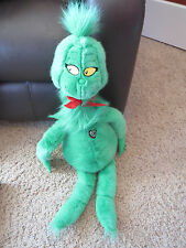 "MACY'S 1997 DR. SEUSS HOW GRINCH STOLE CHRISTMAS 29"" STUFFED PLUSH DOLL W HEART"