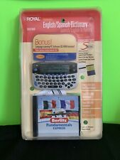 Royal Electronic English/ Spanish Dictionary Translator Thesaurus & Speller New.
