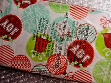 "BICYCLE BIKE Christmas Gift Bag Plastic 60"" X 72"" Decorative Balls Design Cover"