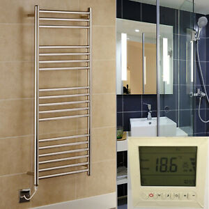 Riga Stainless Steel Heated Towel Rails Various Sizes With Bidex Timer