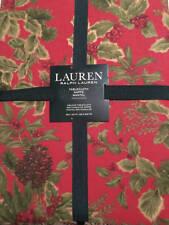 "Ralph Lauren Birchmont Red Tablecloth 60"" x 120"" NEW Christmas Seats 10-12"