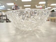 "GORGEOUS TIFFANY & CO.  ""ROCK CUT""  9-INCH ROUND CRYSTAL SERVING BOWL, FRUIT, CA"