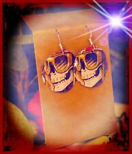 Up-Cycled Day Of The Dead Beer Can Earrings. Made By Me!