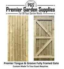 More details for bespoke custom made 2 measure t&g full framed flat top solid wooden garden gate