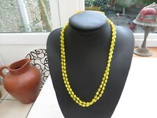 glass bead necklace utter quality Authentic Art Deco beautiful yellow coloured