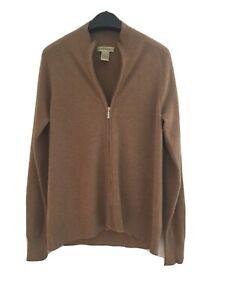ORVIS 100% Cashmere 🐐 Sweater Zip Camel