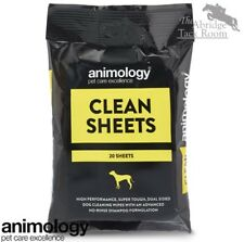 Animology Clean Sheets –  Dog Wipes – Pack of 20 – Vitamin-Enriched – No Rinse