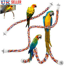 Pet Bird Cotton Rope Perches Cage Accessories Comfy Perch Parrot Bungee Fun Toys