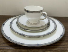 Vtg One 5 Piece Place Setting Wedgwood Amherst Platinum Trim