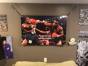 HUGE 45x30  Mike Tyson vinyl Banner POSTER Canelo Alvarez Art Floyd Mayweather