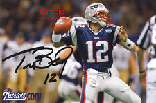 TOM BRADY Signed New England Patriots Autograph Reprint Photo #1