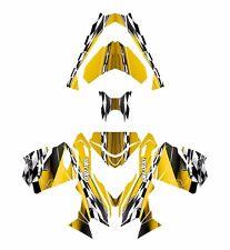 Ski Doo REV XS 2013 2014 2015 graphics sled custom wrap deco kit #2300 Yellow
