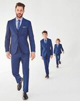 Boys Suits Blue 5 Piece Kid's Groom Suit Wedding Page Boy Baby Formal Party Suit