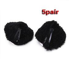 5 pair cosplay cat ear hair clip hairpin black