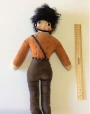 Antique Primitive Cloth Doll Queen's Royal Guardsman? Soldier Original Handmade