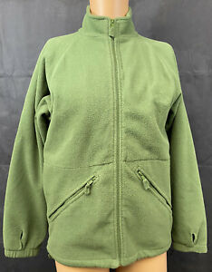 British Military Thermal Olive Green Fleece Liner Jacket With Collar