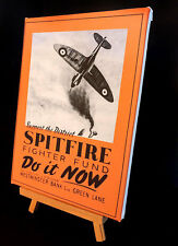 WARTIME SPITFIRE FIGHTER FUND  POSTERS AD  STRETCHED AND FRAMED CANVAS