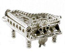 Apertura de plata esterlina encanto de piano de cola